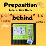 BEHIND + PLURALS Interactive Book & Sentence Formulation,