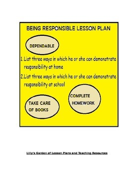 Being Responsible Lesson Plan