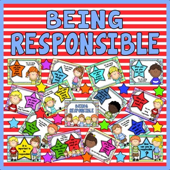 BEING RESPONSIBLE POSTERS- RESOURCES BEHAVIOUR RULES EYFS EARLY YEARS KS