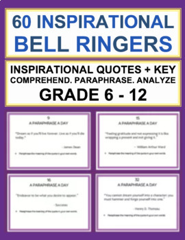 Inspirational quotes printables teaching resources teachers pay bell ringer a paraphrase a day 60 inspirational quotes fandeluxe Images