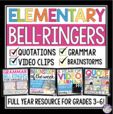 BELL RINGERS FOR UPPER ELEMENTARY OR EARLY MIDDLE SCHOOL: FULL YEAR GRADES 3 - 6