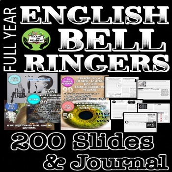 BELL RINGERS FOR ENGLISH   DIGITAL & PRINT DAILY WRITING PROMPTS   DISTANCE
