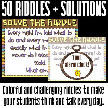 Bell Ringers for Teens. 50 brain teasers riddles.