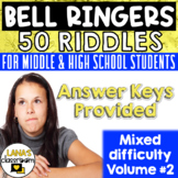 Bell Ringers Brain Teasers Riddles for Teens