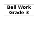 BELL WORK cover page for student copybook (editable)