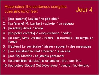 BELLWORK French Pronouns Bundle