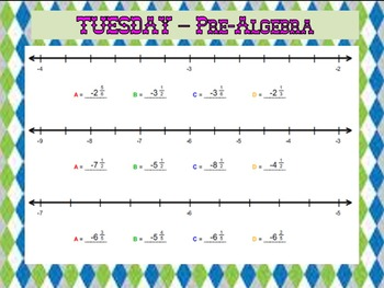 BELLWORK: PreAlgebra 8 --> Month of AUGUST