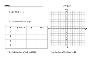 BELLWORK: PreAlgebra 8 --> Month of NOVEMBER