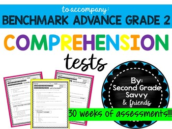 BENCHMARK ADVANCE Weekly Comprehension Story Tests READY TO PRINT