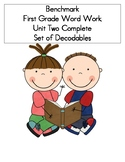 BENCHMARK-FIRST GRADE WORD WORK- UNIT 2 COMPLETE SET OF DECODABLES