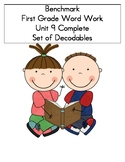 BENCHMARK-FIRST GRADE-WORD WORK-UNIT 9-COMPLETE SET OF DECODABLES