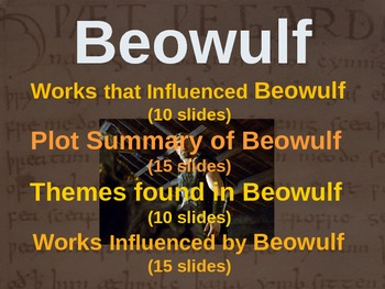 BEOWULF - (PART 4: WORKS INFLUENCED BY BEOWULF) visual, interactive