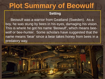 BEOWULF - (PART 2: PLOT SUMMARY OF BEOWULF) visual, interactive