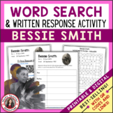 BESSIE SMITH Word Search and Research Activity for Middle