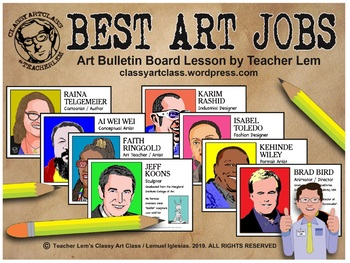 BEST ART JOBS: Lesson, Quiz and Bulletin Board Display