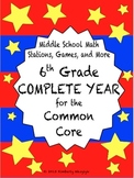 BEST BUNDLE Sixth Grade Common Core Math Stations Complete Year