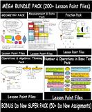 BEST DEAL: 4th Grade Math Visual Lesson Plans MEGA BUNDLE