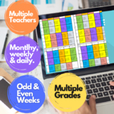 Technology Schedule Multiple Grades Teachers Daily Weekly