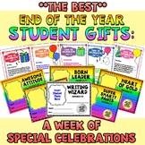 BEST End of the Year Student Gifts: A Week of Special Celebrations