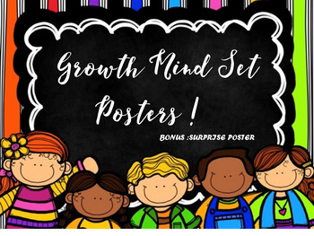 GROWTH MINDSET  EDUCATIONAL POSTERS - SET 3 (21 in total)