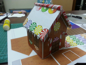 BEST PRINTABLE Gingerbread House - Print, cut, and glue. No coloring necessary!