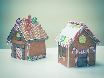 BEST PRINTABLE Gingerbread House - Print, cut, and glue. N