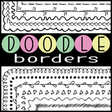 Borders Page Frames Skinny Doodle Hand Drawn Collection