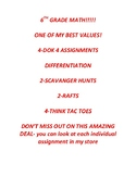 BEST VALUE BUNDLE!  DOK 4 DIFFERENTIATION SCAVANGER HUNT RAFT