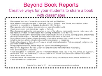 BEYOND BOOK REPORTS