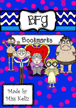 BFG - Big friendly giant-bookmarks in colour with quote, Roald Dahl