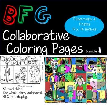 BFG Collaborative Coloring Poster