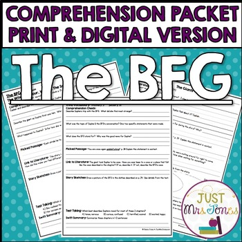 The Bfg Comprehension Questions Worksheets Teaching