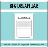 BFG Dream Jar Writing Activity