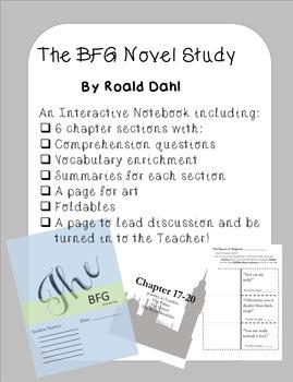 BFG Foldable Novel Study