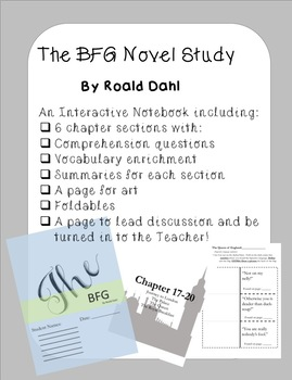The BFG Interactive and Foldable Novel Study
