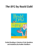 BFG Guided Reading Packet with Vocabulary and Task Sheets