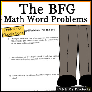 The Bfg Worksheets Or Google Docs For Distance Learning By Catch My Products
