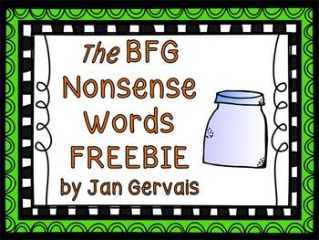 BFG Nonsense Words FREEBIE