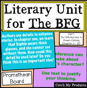 The BFG (First half of book/Part I) Literary Unit for Prom