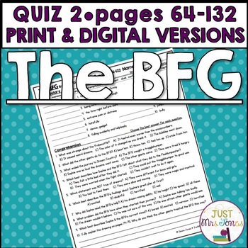 The BFG Quiz 2 (pages 64-132)