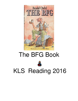 BFG - Roald Dahl Adapted Book picture supported text PDF all chapters