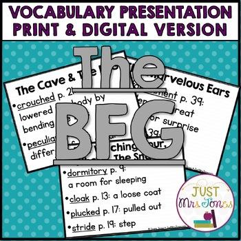 The BFG Vocabulary Presentation