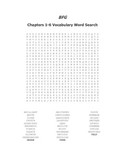 BFG Vocabulary Word Search Packet