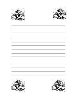 BFG Writing Paper