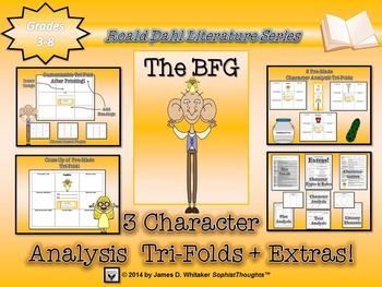 BFG by Roald Dahl Character Analysis Tri-Folds
