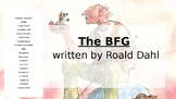 BFG comprehension and vocabulary powerpoint