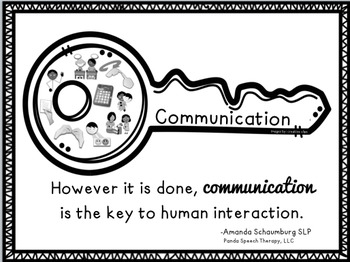 Communication is the Key Poster