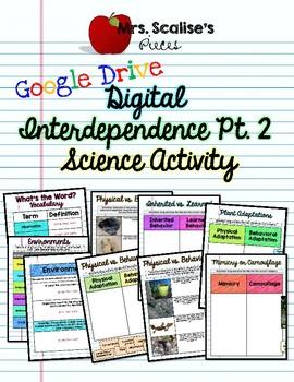 BI17.2 Interdependence Digital Science Activity Google Drive SC.5.L.17.2, 15.1