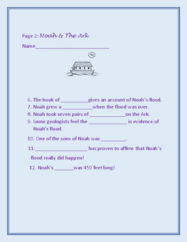 BIBLE ACTIVITY: NOAH & THE ARK