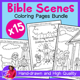 BIBLE BUNDLE 15x Hand-Drawn Coloring Sheets/Colouring Page